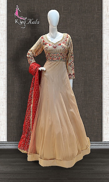 SANDCASTLE BEIGE EMBROIDERED PARTY WEAR ANARKALI http://www.khojkaladesign.com/evening-dresses/sandcastle-beige-embroidered-party-wear-anarkali.html  SKU: KHOJ7202 ₹15,750   #anarkali #anarkalisuit #anarkalidress #anarkalidresses #anarkalidressesuk #anarkalisonline #anarkalisuitsonline #anarkaligown #anarkalionline #anarkalisalwarkameez #anarkalistyle #anarkalilove #anarkalisuitswithprice #anarkalisalwar #handwork-embroidered-bridal-anarkali #Khojkala