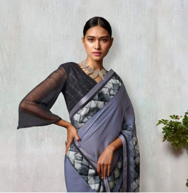 SAREE @ INDIWEAR  Women who want to have traditional yet stylish looks choose Printed Saree online on Fabric Georgette in Indiwear.com https://www.indiwear.com  #indiwear#sarees #onlineshopping #printedsaree #casualsaree#tradition #indiansaree#fashion #diwali #saree