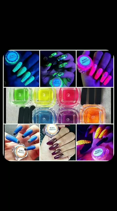 6 Neon pigments 6ways of Using 💗💙💜🧡💛💚 1- Buff on tacky layer of gel polish 2-Mix with regular clear polish 3- Mix with matte top coat 4- Mix with gel polish clear  5- Stamped using pigment 6- Dust on foil glue 💚💛🧡💜💙💗 This BP neon Pigments are so flexible to use.. So Do u agree that these are the most amazing BP pigments on the earth😉🤩 💗💙💜🧡💛💚 @bornprettystore is celebrating🎉 their 8th anniversary sale from Oct 10 - Oct 16. 💚💛🧡💜💙💗 http://www.bornprettystore.com/ ➡️➡️To save your money🤑🤑🤑 Use my coupon code ➡️FGH3H10⬅️ for 10% discount. And if you shop between oct.10 to oct 16 using my coupon code, you get amazing gifts and discounts for sure.🤩 💗💙💜🧡💛💚 Emily from @bornprettyreview  Kindly send me this Products to Review and i must say those are amazing pigments as i am pigments lover i love them.. Thank you so much and  i am extremely happy it came so soon.. 💚💛🧡💜💙💗 Coming to Review: 💗100% Recommend 💙Very fine texture 💜Flexi uses of pigments 🧡Easy application 💛Affordable of course for this result.. 💗💙💜🧡💛💚 💚@bornprettynailart 💛@bornprettystorenailart 🧡@bornprettynail 💙@bornprettyvideo 💜@bornprettyamazon2018 💗6 Colors BORN PRETTY Neon Phosphor Pigment Powder Set Manicure Nail Glitter Fluorescent Powder  Code: # 40192 Link: https://www.bornprettystore.com/colors-born-pretty-neon-phosphor-pigment-powder-manicure-nail-glitter-fluorescent-powder-p-40192.html 💚💛🧡💜💙💗 Check this @neonglowblacklightnails  #neonglowblacklightnails 💗💙💜🧡💛💚 #suratbased  #surat  #indiannails  #india    #bornpretty  #bornprettystorestampingplates   #bornprettyreview  #bornprettystorenailart  #bornpretty8anniversary #bornprettystampingpolish   #neonnails  #neon  #uvrays  #gel  #stamping  #nails  #naile   #nailstagram   #nailedit   #nailpro  #nailsfun 💅  #manicure  #nailpolish  #nailartswag  #nailsofinstagram  #nailsonfleek   #pigment  #pigments