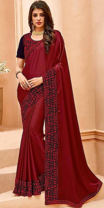 Designer Party Wear Sarees Beautified with Embroidery Work...💞💞 To Order Whatsaap us (+91) 8097909000 For Price More Visit Here :-  https://bit.ly/2OfhZEB * * * * #saree #sarees #saris #handloom #weaving #weddingwear #heavyredsarees #heavybridalwear #embroidered #embroideredwork #floral #floralembroidered #floralsarees #love #designersarees #sareelove #sareeblouse #sareeswag #swag #sari #sarinotsorry #sareeindia #indiansaree #outfitoftheday #ootd #sareeoftheday #sareeaddiction