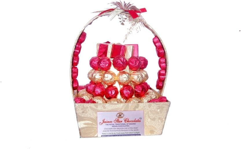 Jainco Star Chocolates Red and Golden Bouquet Caramels  (76)  To buy click on this link:- https://bit.ly/2NzFjYD #chocolate #chocolategift #chocolatepack #darkchocolate