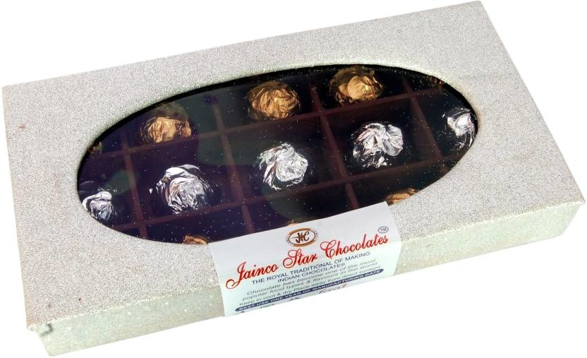 Jainco Star Chocolates Silver Box Chocolate Gift Pack Caramels  (210) To buy click on this link:- https://bit.ly/2Pn6OGt  #chocolate #chocolategift #chocolatepack #darkchocolate
