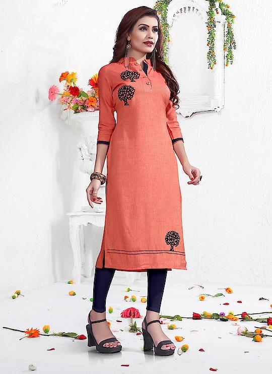 Fabric :- Rayon Work :- Peach Work  Buy Now :- https://tinyurl.com/y7cysrlj  Whats App :- +91 7621863000  #kurti #partywear #designer #casualwear