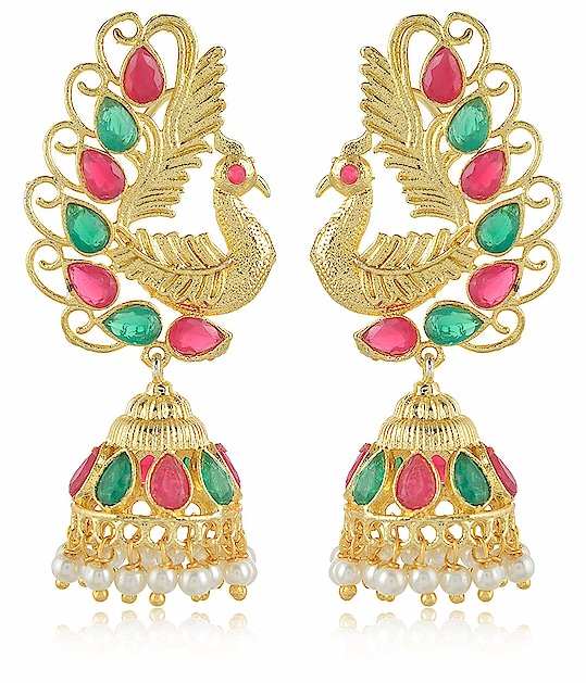 Earring for Women/Girls Aamani Gold & Off White MATT Finish Leafs Jhumki for Women/Girls From the house of AAMANI, Unique designe Gold plated MATT finishing peacock style with Multi colour stone earrings are easy to wear, light in weight which give you a rich look & make you feel Royal. This designer Jhumki is so unique in design and style that you can flaunt it all the time. Here are very beautiful and traditional earring & jhumki erarrings from the house of AAMANI For Purchase you   can just click on the images and shop now Amazon Market place #eraring #jhumki #designerearing #traditionaljewelry #ethnicitem https://www.amazon.in/dp/B07HRWK9CY