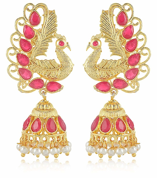 Earring for Women/Girls Aamani Gold & Off White MATT Finish Leafs Jhumki for Women/Girls From the house of AAMANI, Unique designe Gold plated MATT finishing peacock style with Multi colour stone earrings are easy to wear, light in weight which give you a rich look & make you feel Royal. This designer Jhumki is so unique in design and style that you can flaunt it all the time. Here are very beautiful and traditional earring & jhumki erarrings from the house of AAMANI For Purchase you   can just click on the images and shop now Amazon Market place #eraring #jhumki #designerearing #traditionaljewelry #ethnicitem https://www.amazon.in/dp/B07HRX5XM1