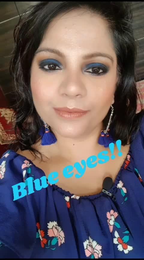 #bluesmokeyeyes #roposomakeup #lookgoodfeelgood #eye-makeup #blue-coloured #roposopic