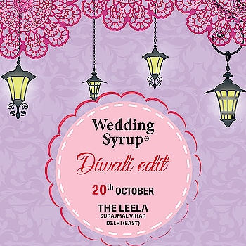 #savethedate as #weddingsyrup is all set for the biggest shopping exhibition, for all the shopaholic peeps join us for Jewellery, clothing and all festive shopping on 20th October at Hotel Leela, east Delhi!  #wedidng #delhibuzz #weddingexhibition