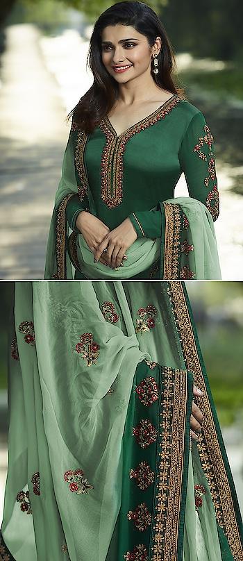 Prachi Desai Dark Green Georgette Straight Suit. Visit Here Price For More :-https://bit.ly/2A89McU * * * * #salwar #salwarsuits #dress #dresses #longsuits #suitsonline #embroidered #motiwork #onlinefloralsuit #floral #fashion #style #prachidesaisuit #gowns #classy #designer #partywear #partyweargown #partywearlehenga #exclusive #ethnic #floralprinted #love #us #uk #usa #international #worldwideshipping 📦 ✈