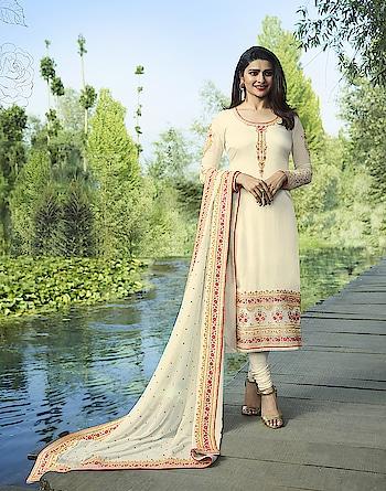 Prachi Desai Off White Georgette Straight Suit. Visit Here For Price & More :- https://bit.ly/2CdzVZ3 * * * * #salwar #salwarsuits #dress #dresses #longsuits #suitsonline #embroidered #motiwork #onlinefloralsuit #floral #fashion #style #prachidesaisuit #gowns #classy #designer #partywear #partyweargown #partywearlehenga #exclusive #ethnic #floralprinted #love #us #uk #usa #international #worldwideshipping 📦 ✈