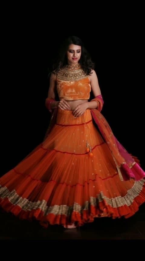Unlocking the 9 colours of Navratri..!! #day #orange  Rent this vibrant orange lehenga with high neck embroidered top only at www.rentanattire.com or visit our stores at Pune, Delhi & Dehradun  #navratri  #navratri2018  #festival #season #indian-festival #fashion #lehenga #desistyle #ethnic #fashionrentals #rental #rentnow #india #delhi #pune #deheradun
