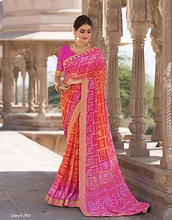 Women who want to have traditional yet stylish looks choose Fancy Saree.   Buy Bandhej Saree online on Indiwear.com https://www.indiwear.com  #indiwear #bandhejsaree #indiwear #ethnicwear #saree  #onlineshopping #festivesaree #diwalisaree #dussehra #diwali #tradition #casualsaree #indian #fashion #indiansaree