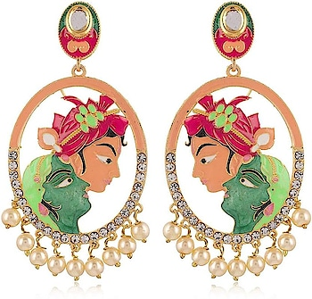 AAMANI Skin & Green Brass Drop for Women (AMI85) Pearl Brass Dangle Earring For Women Ethnic Collection Brass Plated Made of Brass Here are very beautiful and treandy and royal antic earring from the house of AAMANI  For purchase you can just click on the images and shop now flipkart market place #earring #jhumki #jwellary #womenwear #ethnicearrings #weddingearring https://bit.ly/2Ael7Ij