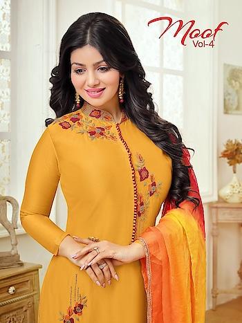 Moof Vol-4 Skirt Pattern Cotton Salwar Suits Wholesale Catalog Price per Piece :- ₹775 + ₹39 (GST 5%) Total Design :- 12 Pcs  Top :- Cotton  Bottom :- Cotton Dupatta :- Nazneen Chiffon Work :- Embroidery Product link :- https://castillofab.com/moof-vol-4-wholesale-cotton-salwar-suit-supplier -------------------------------------------------------- Call/whatsapp :- +91 8530 23 23 30 Visit our website :- www.castillofab.com -------------------------------------------------------- #salwarsuits #wholesale #latestsuits #salwarkameez #international #designersalwar #newlaunch #brandedsalwarsuits #suratcollection #indianstyle #weddingwear #bestrate #salwarsuitdesignes #salwarsuitmanufacturer #palazzo #cottonsuits #castillofab