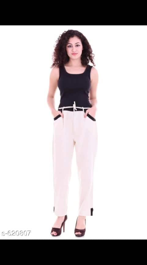 *Stylish Solid Cotton Flex Pants* Only in Rs *480/-*  Fabric: Cotton Flex  Size: M - 30 in ,L 32 in , XL - 34 in , XXL- 36 in , XXXL- 38 in  Length: Up To 39 in  Type: Stitched  Description: __Made of COTTON FLEX  material, these Leggings are comfortable and can be worn all day long. Get this solid-colored legging crafted for ladies that can easily be paired with cute dresses or Kurtis  Pattern: Solid   Dispatch: 2 - 3 Days  Designs: 7  Easy Returns Available In Case Of Any Issue #ajmer  #rajasthandiaries  #jaipur  #jaipur #online_fashion  #onlineshoppingindia  #onlinekurtistore  #onlinestores  #onlinedeals  #pantsforwomen  #pants  #womenwears  #women_fashion  #westernweardress  #clientdiaries
