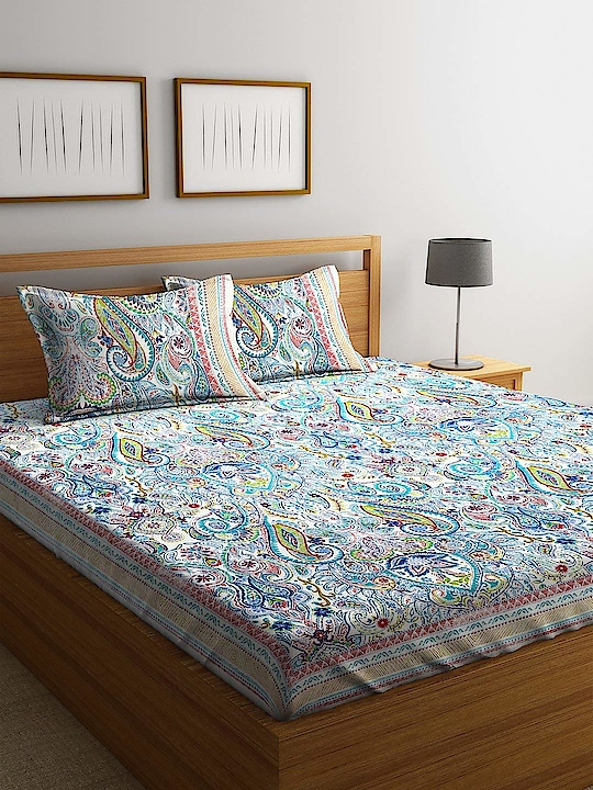 RHF Premium Blue Printed Floral 100% Cotton Double Bedsheet with Two Pillow Cover (Size-230x270 cm)  Premium 100% cotton double bedsheet Large size to make it easy to tuck-in below the bed Light weight and easy to wash at home Size: Bedsheet - 230 cm x 270 cm, Pillow Cover - 18 inch x 27 inch or 46 cm x 69 cm Pack Contents :1 double bedsheet with 2 pillow covers Here are some very beautiful and soft Floral cotton bedsheet with pillow cover set from the house of Rudra Home Furnishing For purchase you can just click on the images and Go for shop now Amazon market place https://www.amazon.in/dp/B07JGM3NWQ #bedsheet #doublebedsheet #pillowcover #bedsheetwithpilowcover #homedecor