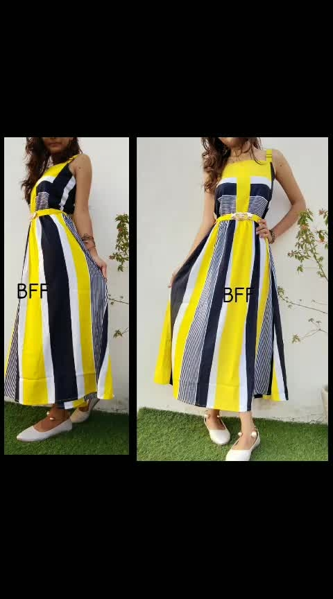 "*BFF*   *Belt gown*💞  Fabric : Creap *GOOD QUALITY*👌  *Size free 34/36""*   *PRICE - 950 free shipping*😇"
