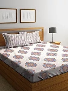 SWHF Premium Cotton Printed 300 TC King Size Bed Sheet with 2 Pillow Covers: White  SWHF Premium Cotton Printed King Bed Sheet with 2 Pillow Covers: 100% Cotton King Bed Sheet is made of fine quality cotton and comes in a size of 270X270 Cm with 2 pillow covers of 46X69 Cm Pillow Covers. The Bedsheet is easy to maintain , colour fast and machine washable.  Here are some very beautiful floral cotton bedsheet with pillow cover set From the house of SWHF For purchase you can just click on the images bedsheet #doublebedsheet #pillowcoverbedsheet #cottonbedsheet #bedcoverings  https://www.amazon.in/dp/B07F2BMFZZ