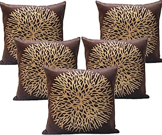 Muse Creations Self Design Cushions Cover  (Pack of 5, 40 cm*40 cm, Brown)  #homedecor  #cushioncover #pilowcover #coverofcushion #cushioncoverset #homedecor  https://bit.ly/2J5rUXJ