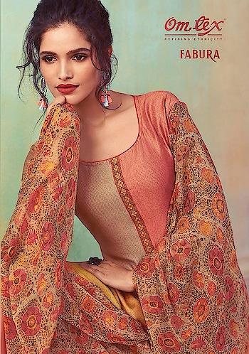 Om Tex Fabura Designer Cotton Salwar Suits Wholesale Catalog Price per Piece :- ₹1,599 + ₹80 (GST 5%) Total Design :- 6 Pcs  Top :- Cotton Satin Bottom :- Heavy Lawn Cotton Dupatta :- Malmal Upcoming Date :- 21/10/2018 Product link :- https://castillofab.com/om-tex-fabura-wholesale-cotton-salwar-suit-supplier -------------------------------------------------------- Call/whatsapp :- +91 8530 23 23 30 Visit our website :- www.castillofab.com -------------------------------------------------------- #salwarsuits #wholesale #latestsuits #salwarkameez #international #designersalwar #newlaunch #brandedsalwarsuits #suratcollection #indianstyle #weddingwear #bestrate #salwarsuitdesignes #salwarsuitmanufacturer #palazzo #cottonsuits #castillofab