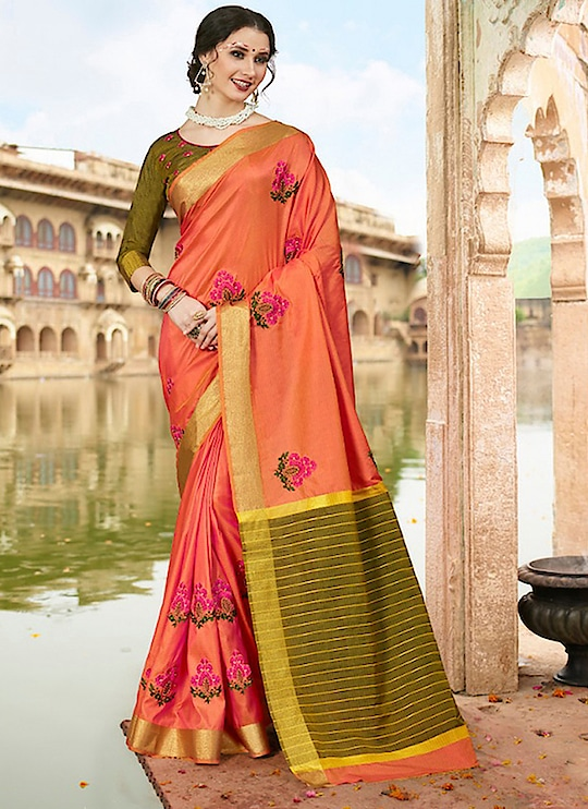 Fabric :- Cotton Work :- Embroidery Work  Buy Now :- https://tinyurl.com/y827tn3b  Whats App :- +91 7621863000  #saree #partywear #casualwear #designer #indianwear