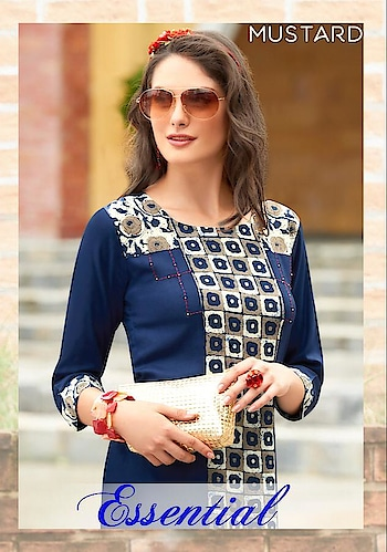 Mustard Essential Rayon Kurtis Wholesale Catalog Price Per Piece :- ₹345 + ₹17 (GST 5%) MOQ :- 6 Pcs. Fabric :- Rayon Size :- M,L, XL ,XXL ,XXXL Upcoming Date :- 21/10/2018 Product link :- https://castillofab.com/mustard-essential-wholesale-rayon-kurti-exporter ------------------------------------------------------------------- Call/whatsapp :- +91 8530 23 23 30 Visit site for products :- https://castillofab.com -------------------------------------------------------------------- #kurti #wholesalekurti #kurtidesign #womenkurti #kurta #newkurtidesign #kurtisonline #partywearkurtis #rayonkurti #latestkurti #brandedkurtis #kurtiwholesalesupplier #kurtiexporter #suratkurtis #IndianKurtis #castillofab
