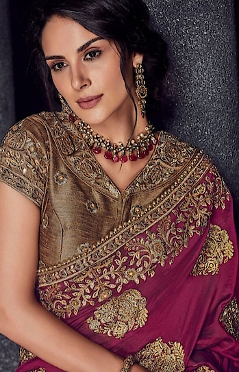 Women who want to have traditional yet stylish looks choose Designer Party Wear Saree online on Fabric Net , Satin in Indiwear.com https://www.indiwear.com  #indiwear#sarees#onlineshopping#designersaree#partywearsaree#tradition #indiansaree#fashion#weddingsaree#festivesaree#diwali#saree#fancysaree