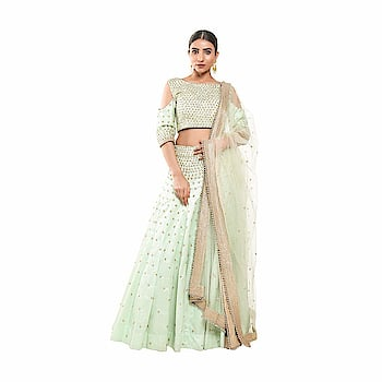 Pushp Paridhan Wedding Wear Traditional Ethnic Wear Handwork Pista Green Lehenga Choli Set For Women  To buy click on this link:- https://amzn.to/2J9kDGn  #lehenga #lenghacholi #womenlehenga #partywearlehengas