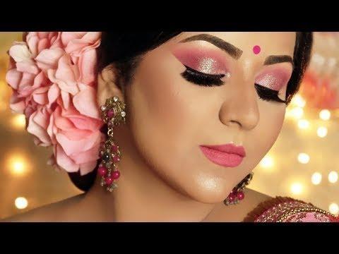 Glamorous Diwali Look 2018 | Holographic Glitter Makeup