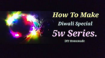 Diwali Special 5w Series Light    How To Make Series Light    DIY Homemade.  #creativespace #light #diy