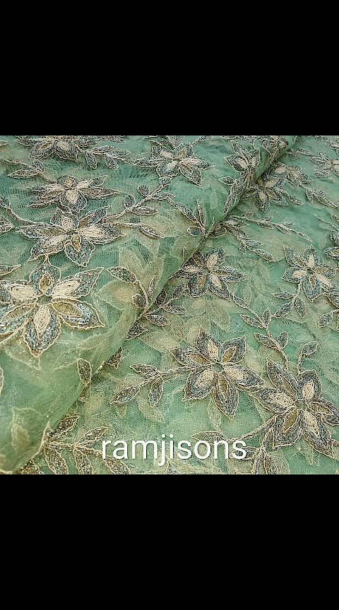 net embroidery with zari doriya work rs. 1075/- per meter bada panna #RAMJISONS #the #boutique #fabric #shop  #ramjisons #designer #fabirc #embriodery #prints #festivewear #couturier #instantbollywood #boutiqueshipping #dupatta #unstitchedsuits #lehennga #indianfashion #indionbride #lastestfashion #sequins #womenfashion #cotton #lucknowi #chikan #brocade #bansrasi #indianwedding #trendy #centralmarket #lajpatnagar #delhi #ncr #india  WORLD WIDE SHIPPING  for any enquiry plz whatsapp  +919810347889 +917982034775 NO CALLS