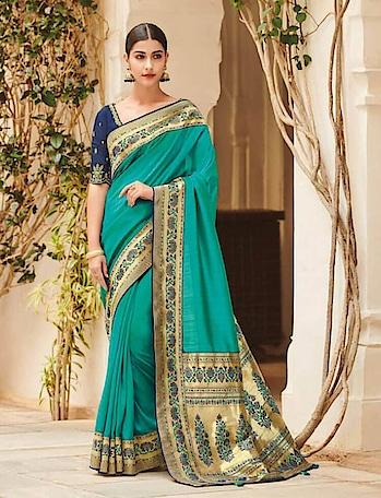 Women who want to have traditional yet stylish looks choose  Designer Banarasi Saree #saree. Shop Banarasi Sarees only at www.indiwear.com #indiwear #fancysaree #banarasisaree #partywearsaree #festivesaree #diwalisaree
