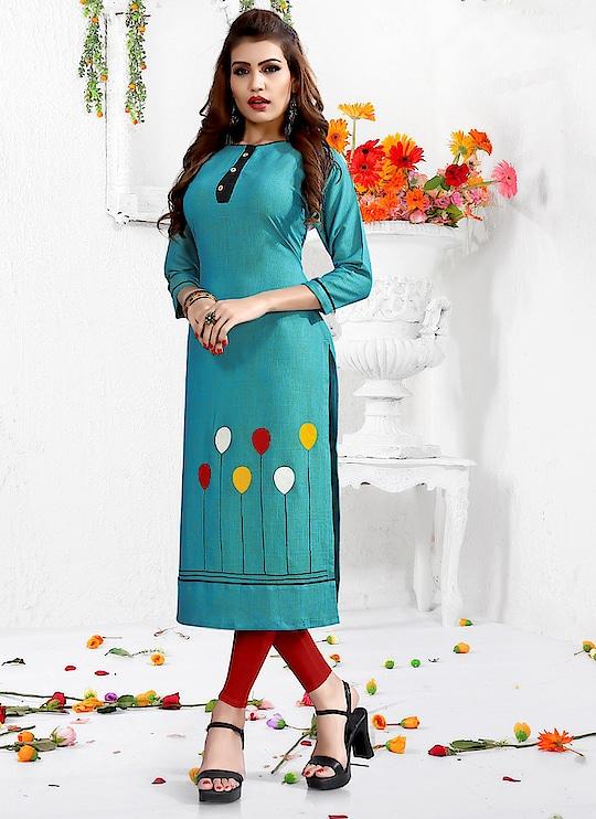 Fabric :- Rayon Work :- Peach Work  Buy Now :- https://tinyurl.com/y7cysrlj  Whats App :- +91 7621863000  #kurti #partywear #designer #casualwear #indianwear