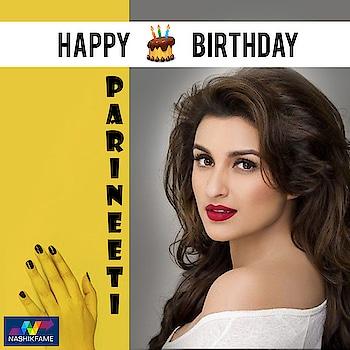 Vibrant, Quirky, Gorgeous. Wishing our absolute stunner Parineeti Chopra a very Happy Birthday!! HappyBirthdayParineeti. Nashikfame wishes you success, wealth and happiness!!  #pari #parineeti #ParineetiChopra #chirpy #bubbly #HappyBirthdayParineeti #bollywoodactress #Starbirthday #birthday #ParineetiChopraBirthday 🎂 🎉 💜 #birthdaycelebration #celeb #celebrity #actress #bollywoodcelebrity #CelebrityBirthday #Bollywood #SuperStar #birthdayParty #fun #celebration #Nashikfame #Nashik