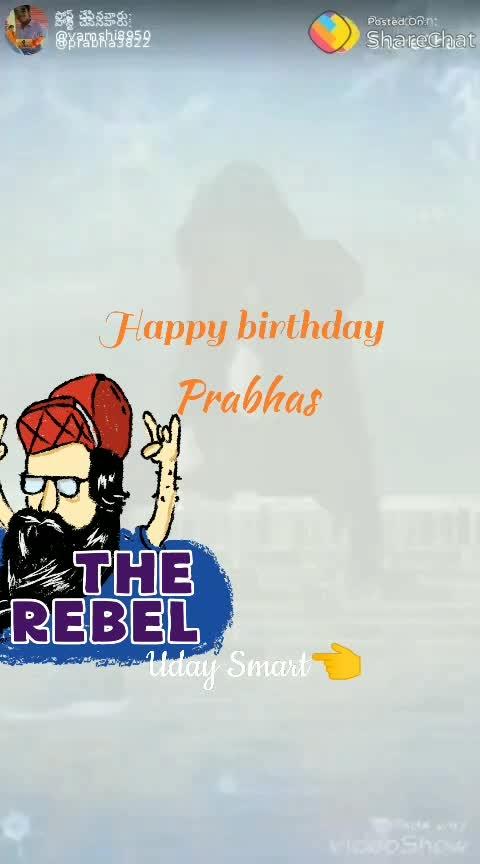 happy birthday prabhas anna✊✊✊