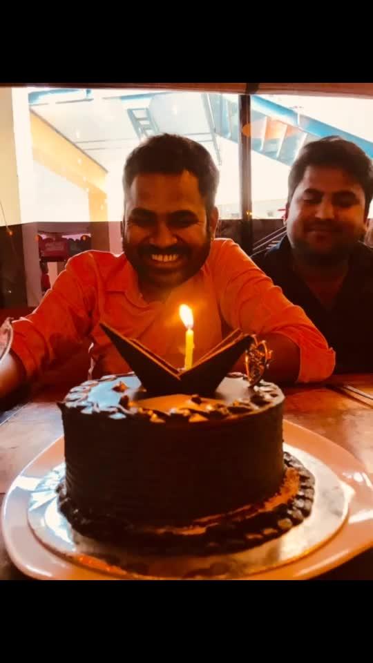"Happy to our super man ""Shyamlaal Garg""  Kalli jotta ka kali chai wala #happybirthdaytome #roposofun #cake #foodie #party #birthday #celebration #fun #candle #light #clapping #kallijotta #30kfollowers #thanks #fans #friends #love #youtuber"