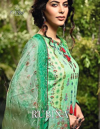 Relssa Rubina Vol-2 Latest Cotton Dress Material For Women Fashion Price per Piece :- ₹1,620 + ₹81 (GST 5%) MOQ :- 7 Pcs  Top :- Cotton Satin Bottom :- Cotton Satin Dupatta :- Chiffon Work :- Embroidery Upcoming Date :- 24/10/2018 Product link :- https://castillofab.com/relssa-rubina-vol-2-wholesale-cotton-dress-material-exports -------------------------------------------------------- Call/whatsapp :- +91 8530 23 23 30 Visit our website :- www.castillofab.com -------------------------------------------------------- #salwarsuits #wholesale #latestsuits #salwarkameez #international #designersalwar #newlaunch #brandedsalwarsuits #suratcollection #indianstyle #weddingwear #bestrate #salwarsuitdesignes #salwarsuitmanufacturer #palazzo #cottonsuits #castillofab
