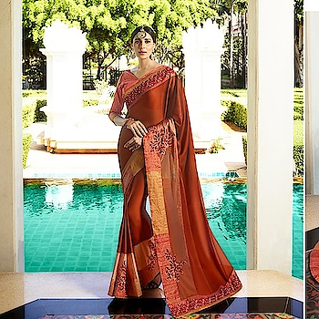 Fabric :- Fancy  Work :- Thread Work  Buy Now :- https://tinyurl.com/y827tn3b  Whats App :- +91 7621863000  #designer-saree #fancysarees #buysareesonline #saree #indiansaree #shopping #online-shopping #sari