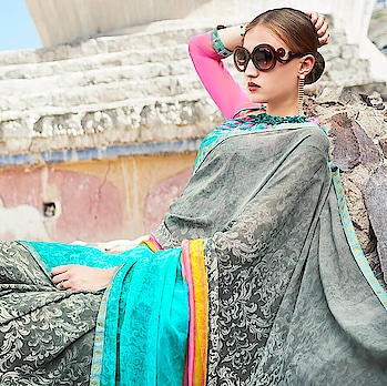 Women who want to have traditional yet stylish looks choose Printed Saree #saree. Shop Printed Saree only at www.indiwear.com #indiwear #casualsaree #diwalisaree