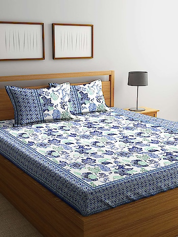 RHF Premium Blue Printed Floral 100% Cotton Double Bedsheet with Two Pillow Cover (Size-230x270 cm) Premium 100% cotton double bedsheet Large size to make it easy to tuck-in below the bed Light weight and easy to wash at home Size: Bedsheet - 230 cm x 270 cm, Pillow Cover - 18 inch x 27 inch or 46 cm x 69 cm Pack Contents :1 double bedsheet with 2 pillow covers Here are some very beautiful floral cotton bedsheet with pillow cover set from the house of Rudra Home Furnishing For purchase you can just click on the images #bedsheets #pillowcover #doublebedsheet #bedcover https://www.amazon.in/dp/B07JG2Z79Y