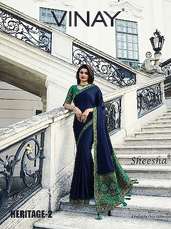 Vinay Sheesha Heritage Vol-2 Silk Saree Wholesale Dealer Price per Piece :- ₹1,295 + ₹65 (GST 5%) MOQ :- 8 Pcs  Saree Fabric :- Silk Blouse Fabric :- Silk Work :- Embroidery Upcoming Date :- 27/10/2018 Product link :- https://castillofab.com/vinay-sheesha-heritage-vol-2-indian-designer-silk-saree -------------------------------------------------------- Call/whatsapp :- +91 8530 23 23 30 Visit our website :- www.castillofab.com -------------------------------------------------------- #sarees #sareecollection #indianwear #traditionalsaree #instafashion #newcollection #latestdesigns #suratsarees #weddingwear #partywear #bestprice #newlaunch #onlineshopping #ethnicwear #sareeonline #sari #brandedsaree #bollywoodsaree #surat