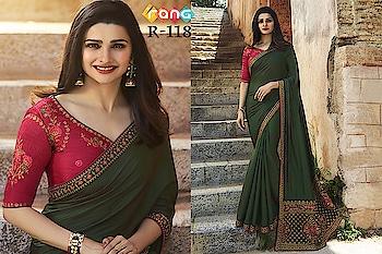 Prachi Desai Dark Green Silk Saree. Link To Buy :- https://bit.ly/2Sc3krZ To Order Whats-app us (+91) 8097909000 #saree #sarees #saris #handloom #weaving #Printedsaree #embroidered  #embroideredwork #floral #floralprint #floralsarees #love #designersarees #sareelove #sareeblouse #sareeswag #swag #sari #sarinotsorry #sareeindia #indiansaree #outfitoftheday #ootd #sareeoftheday #sareeaddict