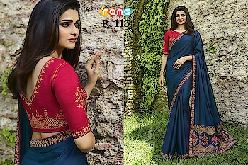 Prachi Desai Navy Blue Silk Saree. Link to Buy :- https://bit.ly/2RayajM To Order Whats-app us (+91) 8097909000 #saree #sarees #saris #handloom #weaving #Printedsaree #embroidered  #embroideredwork #floral #floralprint #floralsarees #love #designersarees #sareelove #sareeblouse #sareeswag #swag #sari #sarinotsorry #sareeindia #indiansaree #outfitoftheday #ootd #sareeoftheday #sareeaddict