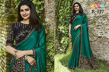 Prachi Desai Teal Green Silk Saree. Link To Buy :- https://bit.ly/2OEoFwa To Order Whats-app us (+91) 8097909000 #saree #sarees #saris #handloom #weaving #Printedsaree #embroidered  #embroideredwork #floral #floralprint #floralsarees #love #designersarees #sareelove #sareeblouse #sareeswag #swag #sari #sarinotsorry #sareeindia #indiansaree #outfitoftheday #ootd #sareeoftheday #sareeaddict