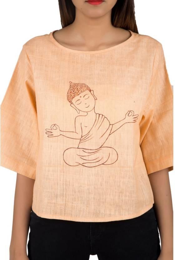 IFONLY Casual 3/4th Sleeve Printed Women's Beige Top Product Link:-https://bit.ly/2D0RoFo  Click for more option:-https://bit.ly/2AnKWWA  #top #topforwomen #girlstop #casualtop #designertop #khaditop #partyweartop