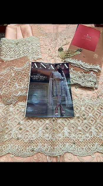 """*🌹#ANAYA* *🎊WEDDING EDITION BRIDAL DESIGNER MASTER REPLICA🎊*  *(4 HIT DESIGNS)*  *👇Fabrics Descriptions:-* *""""Heavy Embroidered Chiffon/Net/Organza with Accessories, Cutwork Borders, Embroidered Patches, Heavy Sequence, Daimond, Stones, Pearls,Zari Work with Heavy Embroidered Chiffon/Net Dupatta and Crepe/Banarsi Jamawar/Satin Silk Bottom with Embroidered Patches""""*  *🌹Paki #Master #Replica🌹* *💯%Best quality   *💎#Each dress with #pearls and #accessories*  *🎁Each dress with box #packing*  *📿Each dress with #necklace*   *✅set rate 3200×4 pcs *✅Single rate 3600/-  👇 Whatsapp on +918879845751. +919029093762"""