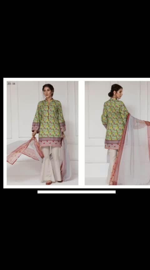 🌈Rangreza brand 👉printed lawn suits with lawn dupatta 👉Zs 9 and 16 have chiffon dupatta 👉Price 1100rs plus shipping ☎️9831663759