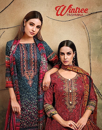 Angroop Plus Wintry Pashmina Dress Material Online Best Rate Seller Price per Piece :- ₹795 + ₹40 (GST 5%) MOQ :- 9 Pcs  Top :- Pashmina  Printed Bottom :- Pashmina   Dupatta :- Chiffon Work :- Embroidery  Upcoming Date :- 28/10/2018 Product link :- https://castillofab.com/angroop-plus-wintry-pashmina-dress-material-supplier -------------------------------------------------------- Call/whatsapp :- +91 8530 23 23 30 Visit our website :- www.castillofab.com -------------------------------------------------------- #salwarsuits #wholesale #latestsuits #salwarkameez #international #designersalwar #newlaunch #brandedsalwarsuits #suratcollection #indianstyle #weddingwear #bestrate #salwarsuitdesignes #salwarsuitmanufacturer #palazzo #cottonsuits #castillofab