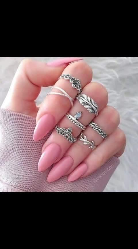 #rings#nail paint