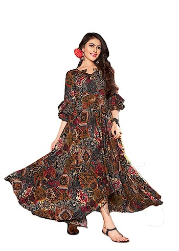 Go Colorful Wearing This Designer Readymade Long Kurti In Multi Color Fabricated On Rayon Cotton Beautified With Multi Colored Prints All Over The Kurti. Buy It Now.  ✔ #Designer #Readymade #Long #Kurti #In #Multi #Color #Fabricated #On #Rayon #Cotton ✔ Shop https://bit.ly/2DfZXwj ✔ Price: Rs. 2199/- ✔ Product Code: 1265-PRN4368 ✔ Call or Whatsapp: 9582775828