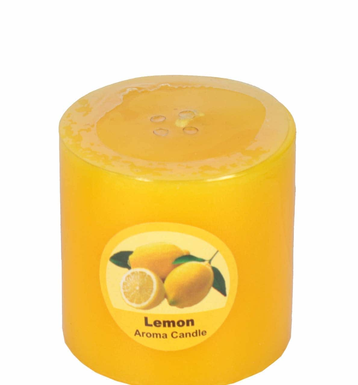 """Golden bell Scented Aroma Fragrance 100% Wax Perfume Pillar Candles for Home Decoration, Dimensions (2.5"""" x 2.5"""") Inches, Pack of One Candle, Available in 4 Different Fragrances. (Lemon)  Here are some candles of low price from the house of Goldenbell..For purchasing just click on the images..  #candles #fragrancescandles  #decorativecandles  https://www.amazon.in/dp/B07HVMGCY8"""